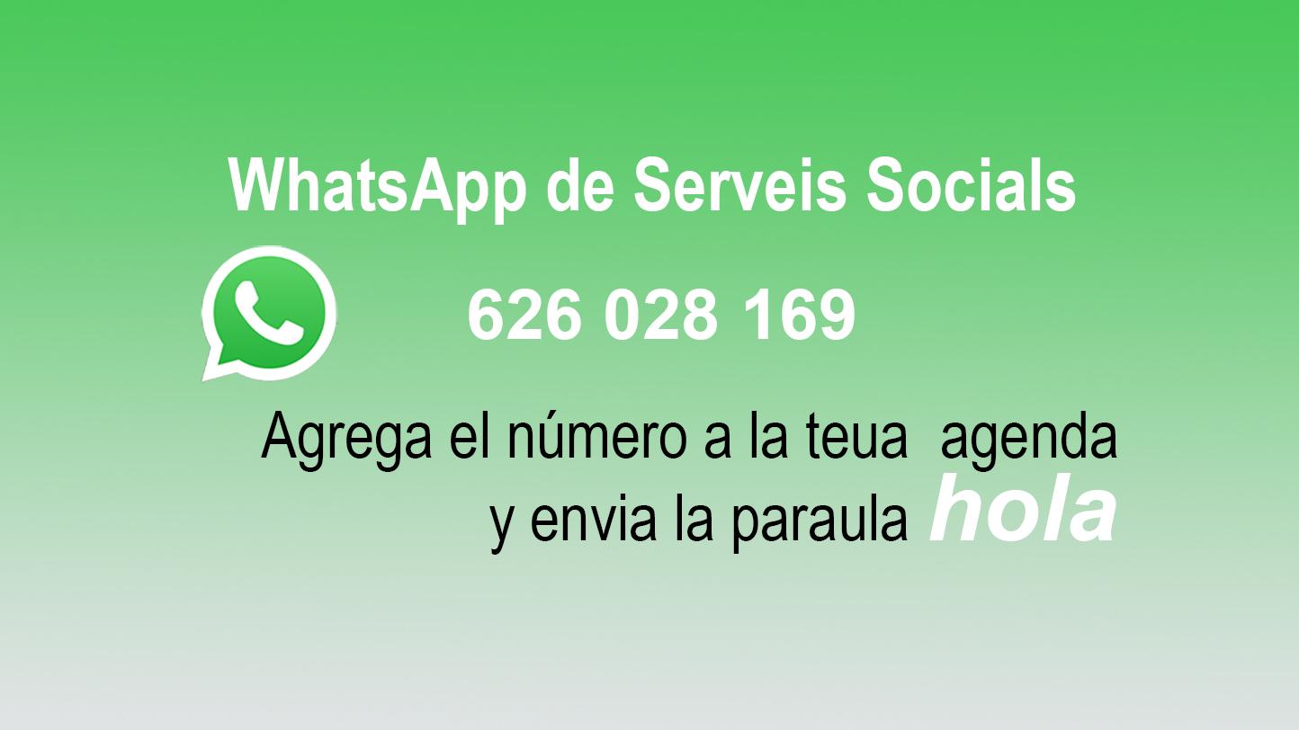 WhatsApp de Serveis Socials.